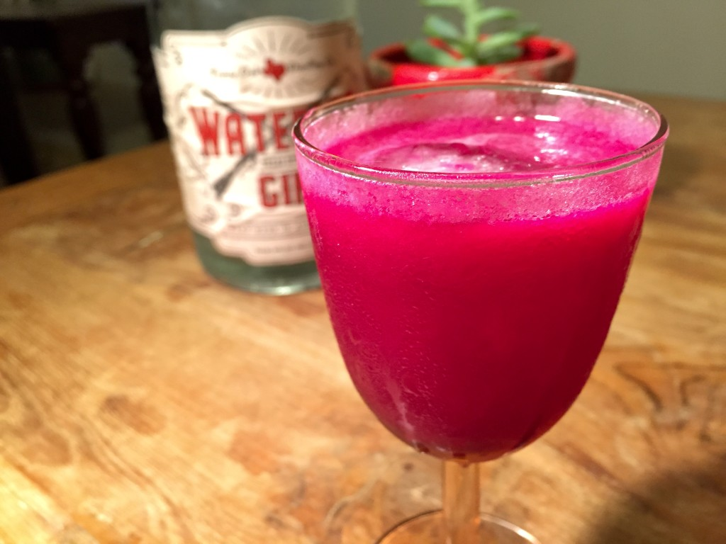 A beautifully colored and very tasty concoction.