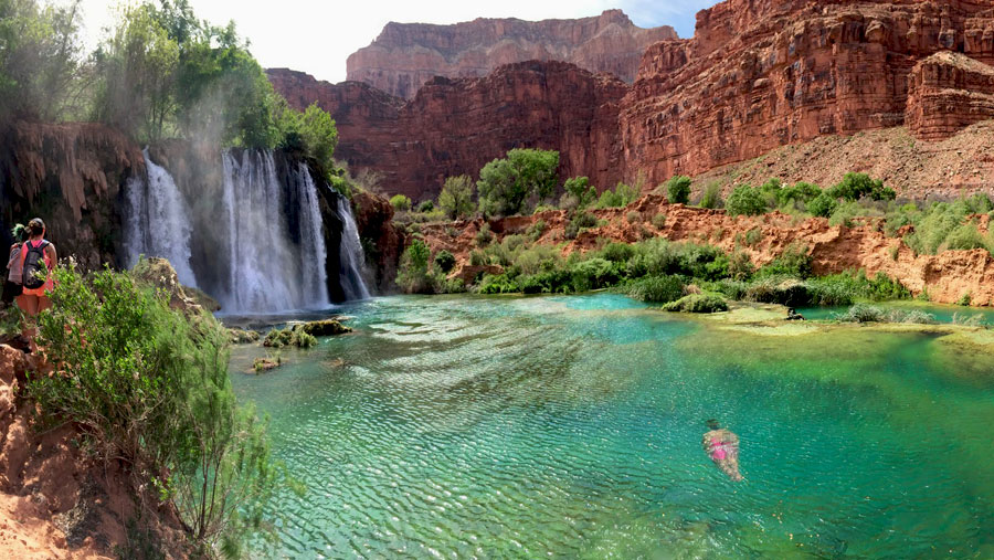Falls along the Havasu Creek